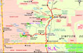 Alice Springs  - Australia - Travel - Holidays - Tourism - Vacations  map